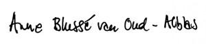 Handtekening Anne